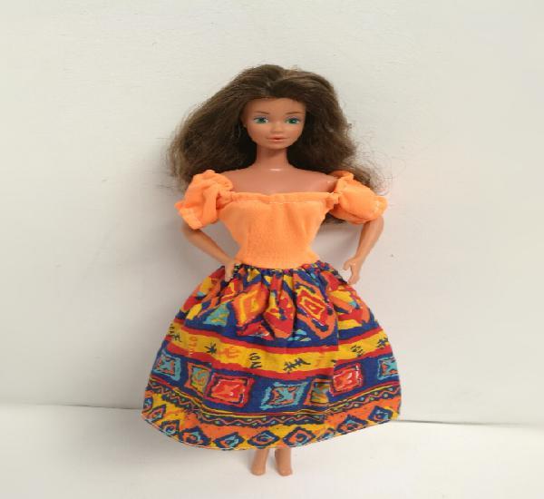 Vestido naranja válido para barbie muñeca no incluida