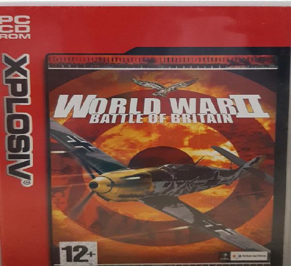 World war ii battle of britain. juego pc. usado, buen