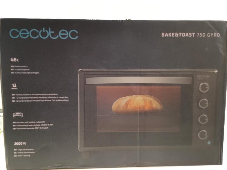 Horno cecotec bake&toast 750 gyro 45l