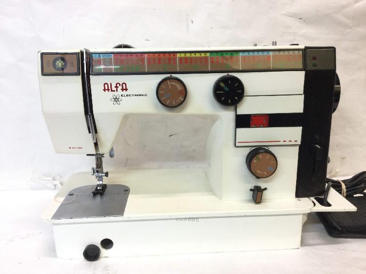 Maquina coser alfa eibar