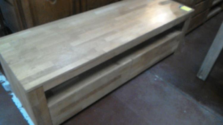 Compre la oportunidad de mueble tv,, madera 2 cajones