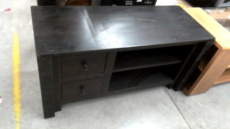 Compre la oportunidad de mueble tv madera exótica 2 cajones