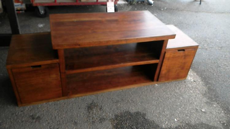 Compre la oportunidad de mueble tv madera exótica