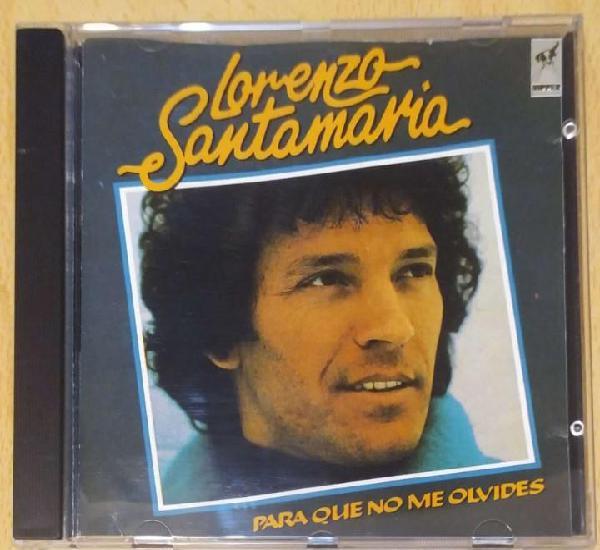 Lorenzo santamaria (para que no me olvides) cd 1990
