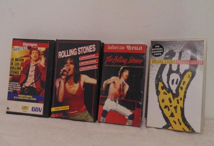 Lote 3 vhs conciertos de rolling stones