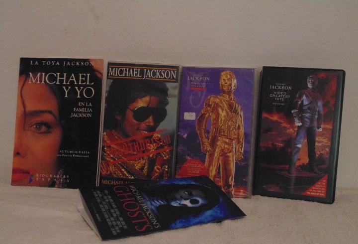 Lote 3 vhs michael jackson + libro la toya jackson +
