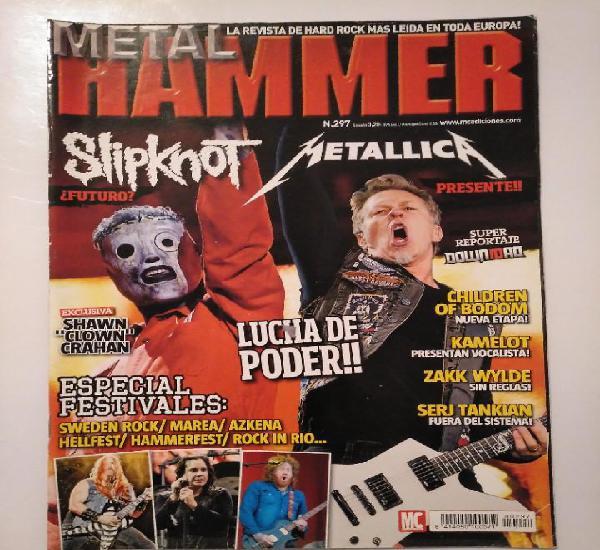 Metal hammer. nº 297. metallica. slipknot. shawn clown