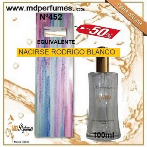 Oferta 10€ perfume mujer nacirse rodrigo blanco