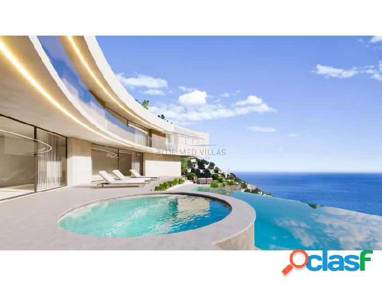 Proyecto de villa de lujo con vistas al mar en venta en Javea