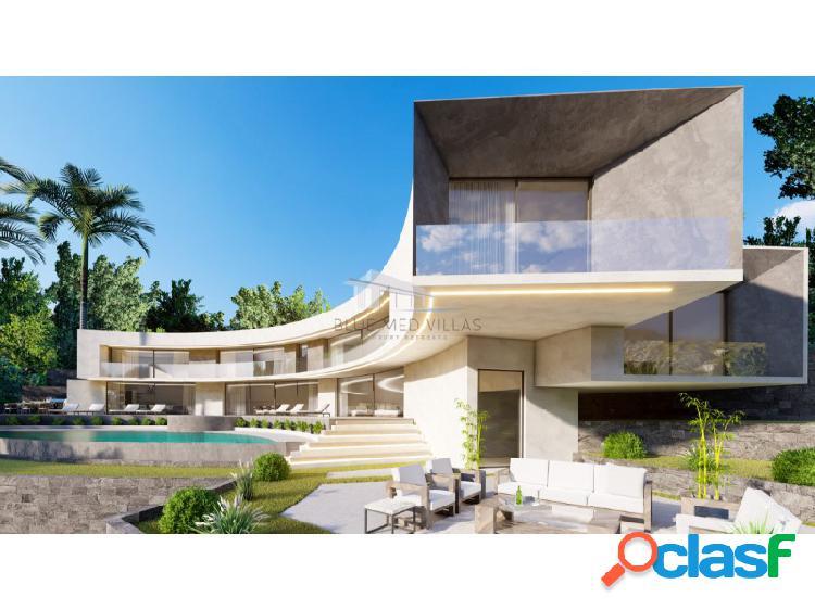 Proyecto de villa de lujo con vistas al mar en venta en Javea 3