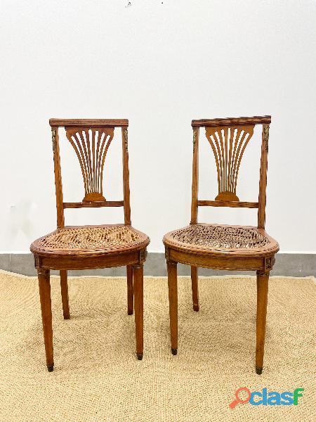 2 sillas , estilo Imperio frances