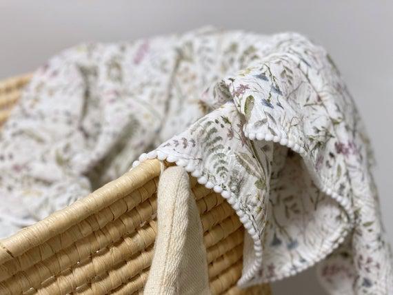 Envoltorio de verano bebé para niña - muslin baby swaddle