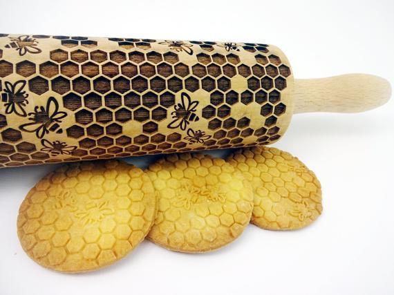 Honeycomb relieve rolling pin. rodillo de masa cortado por