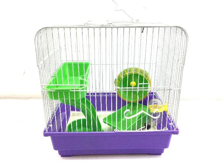 Jaula hamsters otros violeta y verde