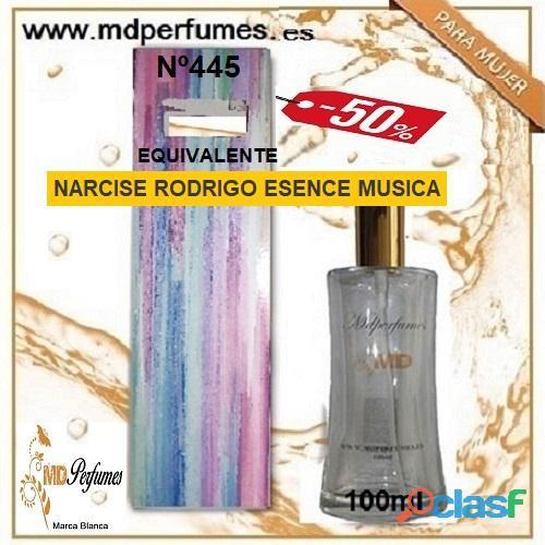 Oferta 10€ Perfume Mujer NARCISE RODRIGO ESENCE MUSICA N445 Alta Gama Equivalente 100ml