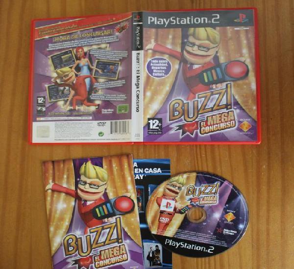 Buzz el mega concurso. ps2 playstation 2
