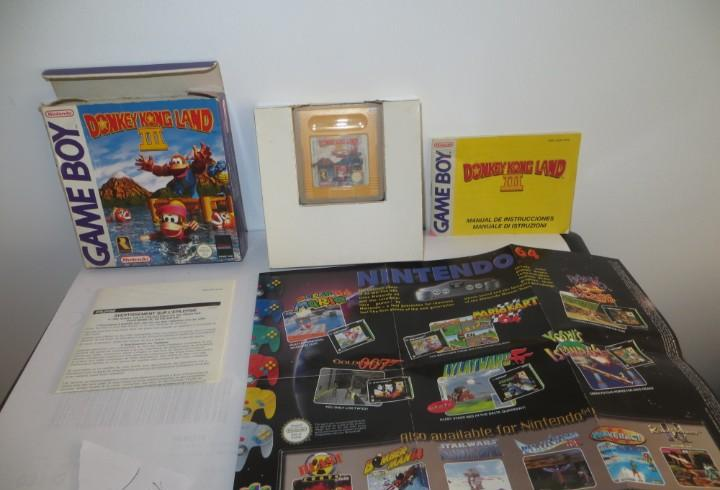 Game boy juego donkey kong land iii caja e instrucciones en