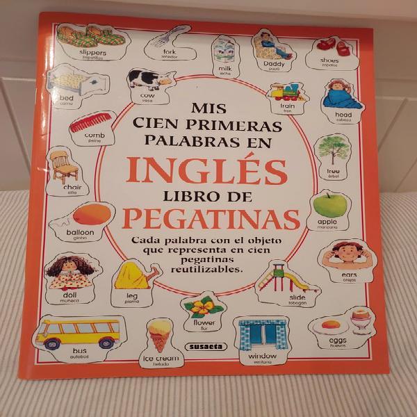 Inglés libro de pegatinas