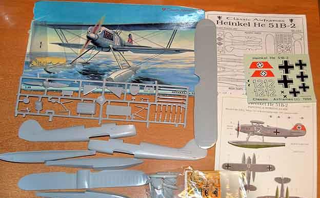 Maqueta del hidroavión alemán heinkel he 51b-2 de classic