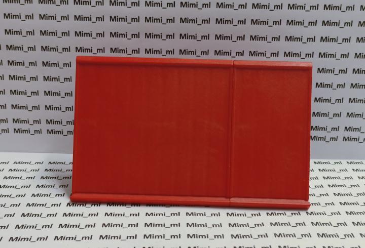 Playmobil 3175 2 secciones tejado rojo con conector gris y