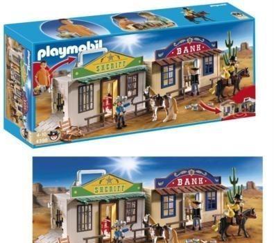 Playmobil 4398 set cofre / maletín ciudad del oeste. nuevo