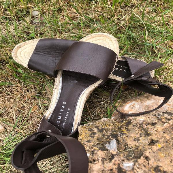 Sandalias de piel las palomitas