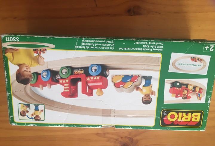 Tren de madera brio imaginarium 46 piezas