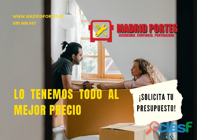 Madrid mudanzas pequeñas b4ratas