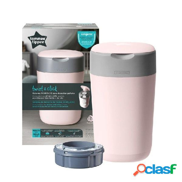 Tommee tippee - contenedor de pañales twist & click tomme tippee rosa