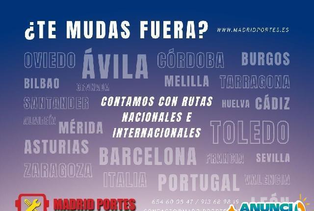 Halla mudanzas nacionales portes la latina - madrid