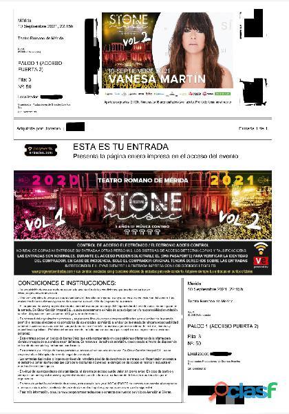 VANESA MARTÍN Stone & Music Mérida