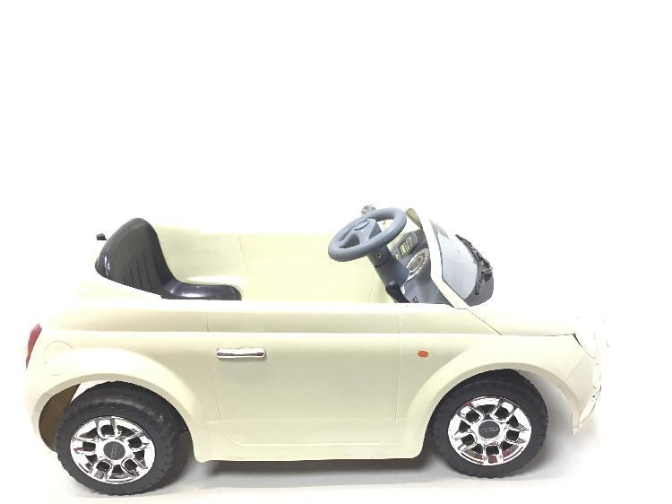 Vehiculo bateria niño imaginarium fiat 500 ride on wht