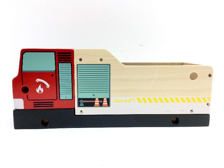 Vehiculo juguete janod camion de bomberos 3-8 aã'os