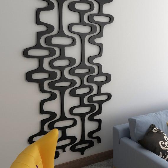 Decoración retro de los años 70, paneles de pared 3d,