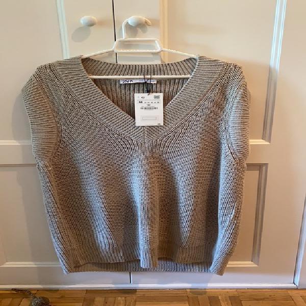 Jersey lana largo sin mangas nuevo zara