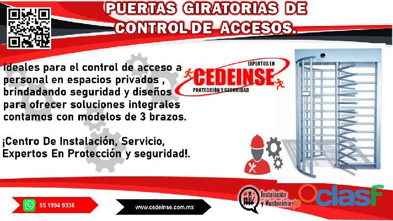 puertas giratorias de control de accesos