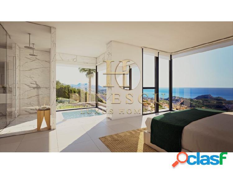 Exclusiva y lujosa villa superior con vistas al mar y gran piscina infinita