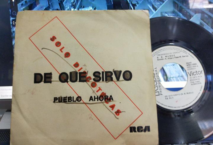 B.b. muñoz single promocional de que sirvo 1974