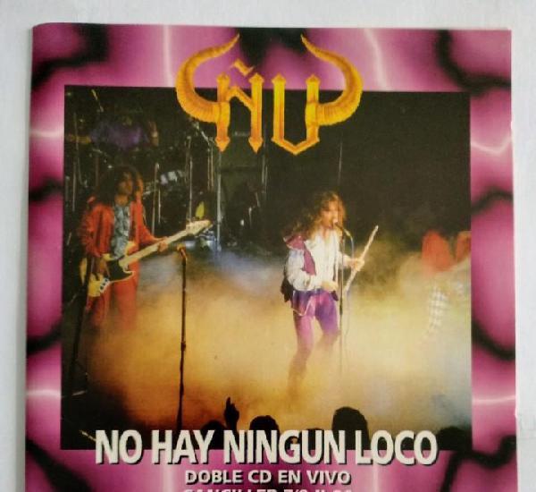 Como nuevo!! - ñu / no hay ningun loco - doble cd en vivo