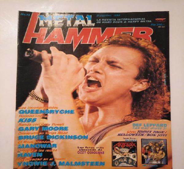 Metal hammer 13 kiss def leppard queensryche ozzy manowar