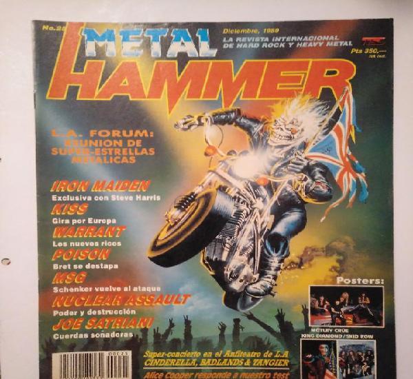 Metal hammer 25 iron maiden kiss warrant