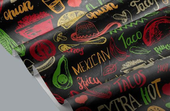 100% algodón comida mexicana 147 cm metro ancho para coser