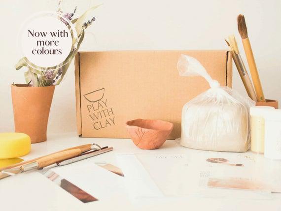 Big air-dry clay kit, clay kit, home diy clay kit, home