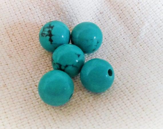 Perla étnica turquesa 8 mm-perla redonda del mundo