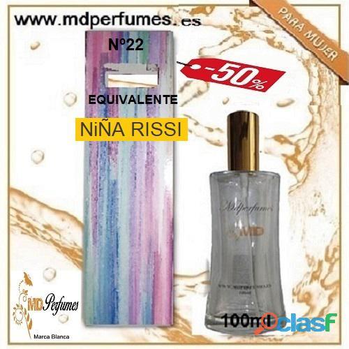 Oferta 10€ Perfume Mujer NiÑA RISSI nº22 Alta Gama Equivalente 100ml