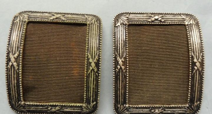Antiguas hebillas metálicas para zapatos - indumentaria