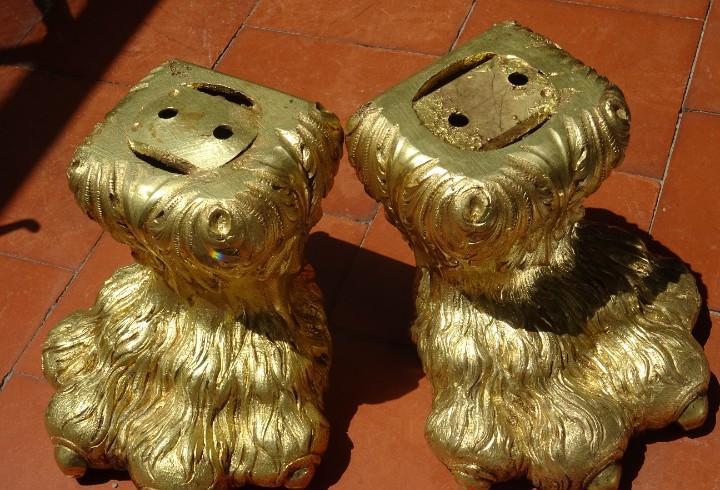 Patas de bronce siglo xviii