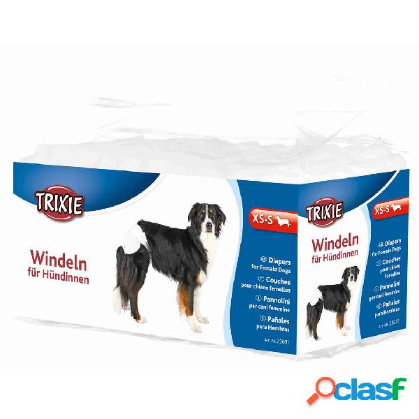 TRIXIE 12 Pañales Perros ultra absorbentes XS-S