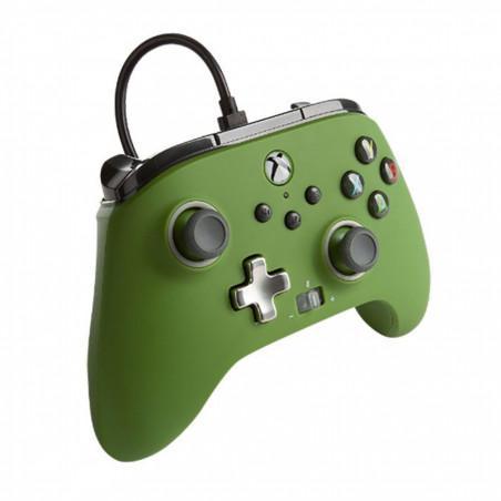 Mando con cable mejorado power a verde xbox series x/one y