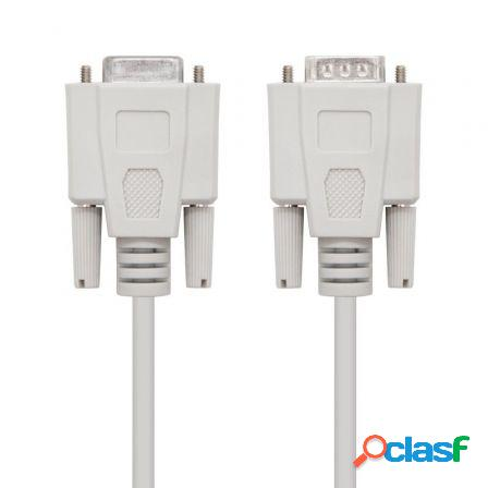 Cable serie rs232 nanocable 10.14.0203/ db9 macho - db9 hembra/ 3m/ be